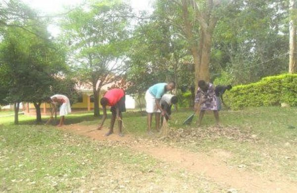 Students Helping With Gardening